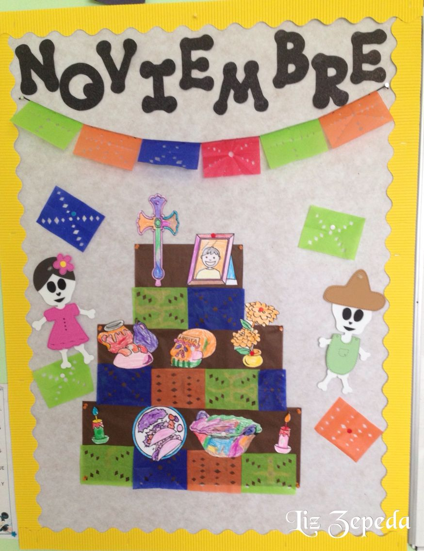 Friso mes de noviembre bulletin boards pinterest for Diario mural en ingles