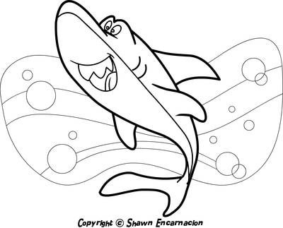 print and color super sea creatures  shark coloring pages