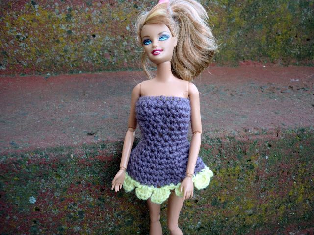 Free Crochet Pattern Barbie Flowie Dress Free Crochet Animal