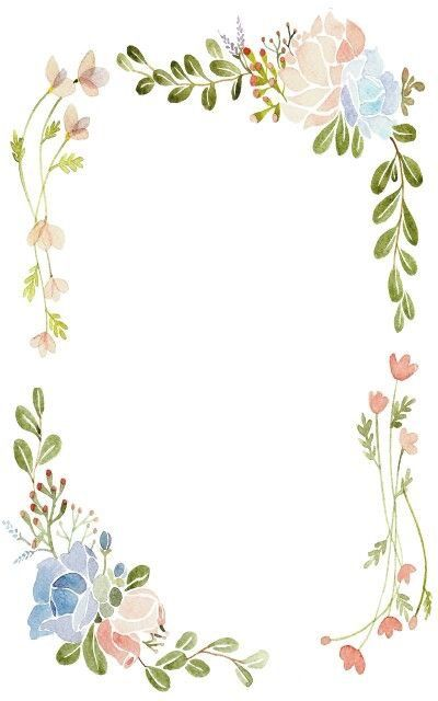 Watercolor Borders Floral Watercolor Background Floral