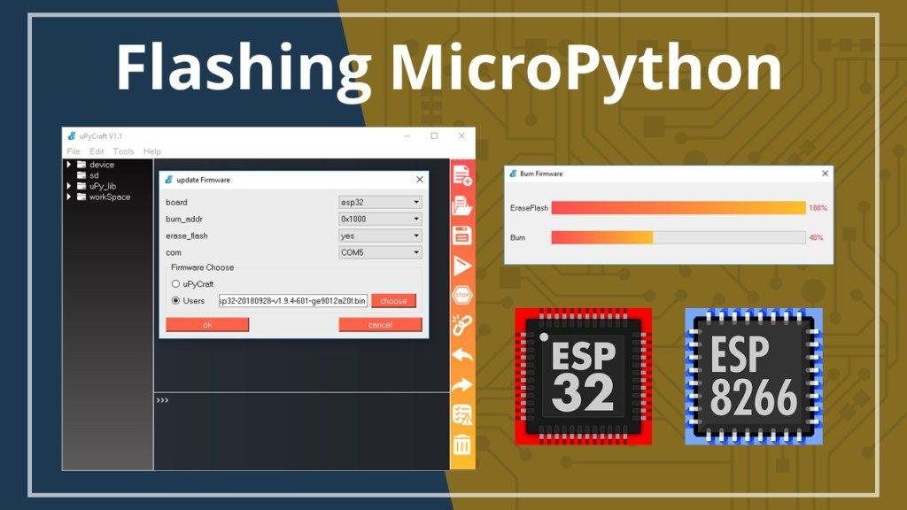 Flash Upload Micropython Firmware To Esp32 And Esp8266 Random