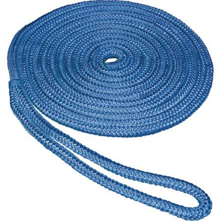 Seasense Double Braid Nylon Dock Line 1 2 X 15 12 Eye Blue Products Braids Double Braid Anchor Rope