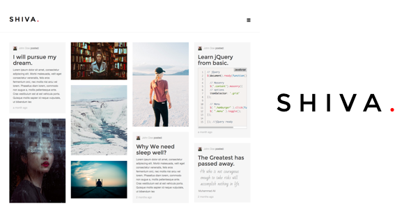 Shiva  Responsive Portfolio And Blog Ghost Theme  Template
