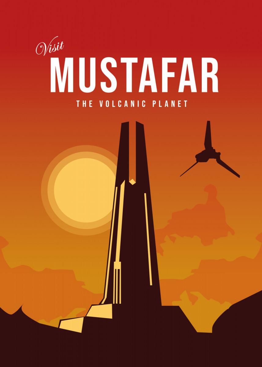 Visit mustafar Minimalistic Poster Print | metal posters - Displate | Displate thumbnail