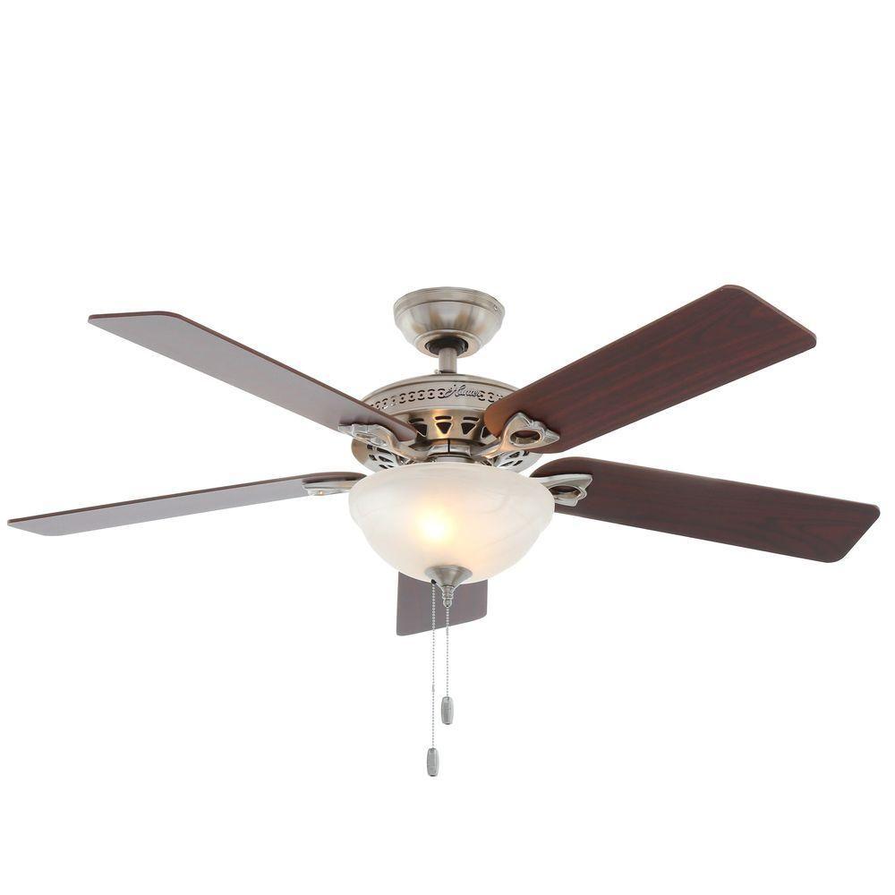 Hunter Astoria 52 In Indoor Brushed Nickel Ceiling Fan With Light