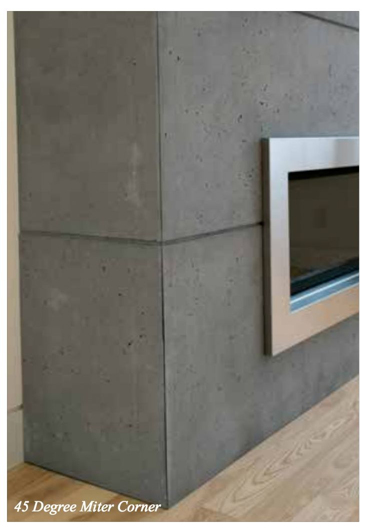 Concrete Lightweight Cladding For Fireplace Concrete Fireplace Cladding Slate Fireplace