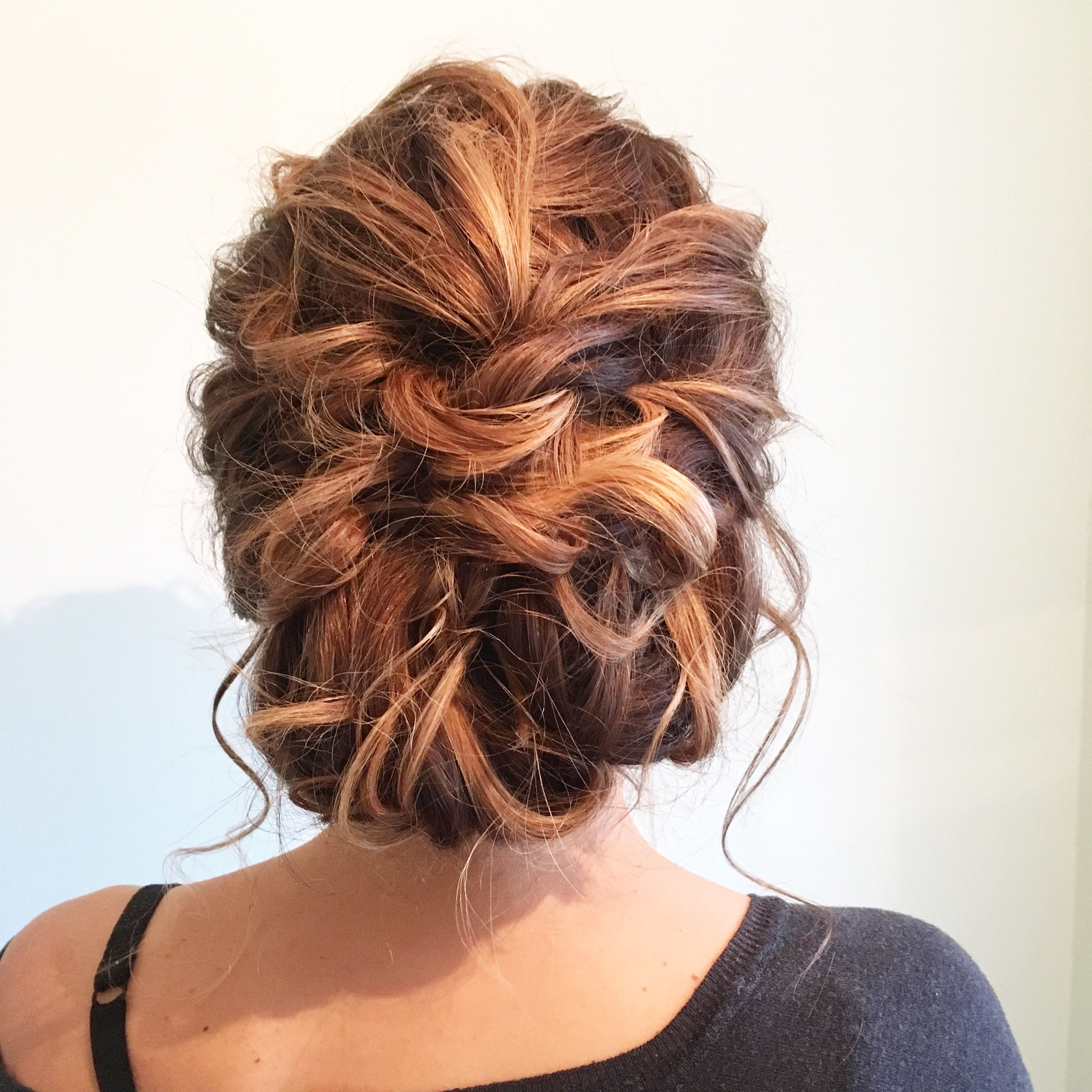 Low tousled textured bridal updo | Hair styles, Homecoming ...