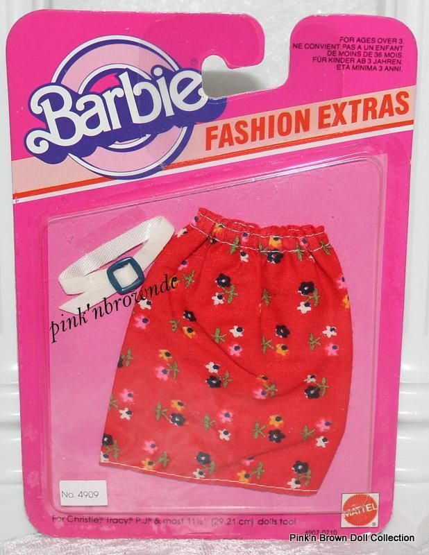 Barbie Fashion EXTRAS 4909 Best Buy Collectibles Favorites Red Floral Skirt | eBay
