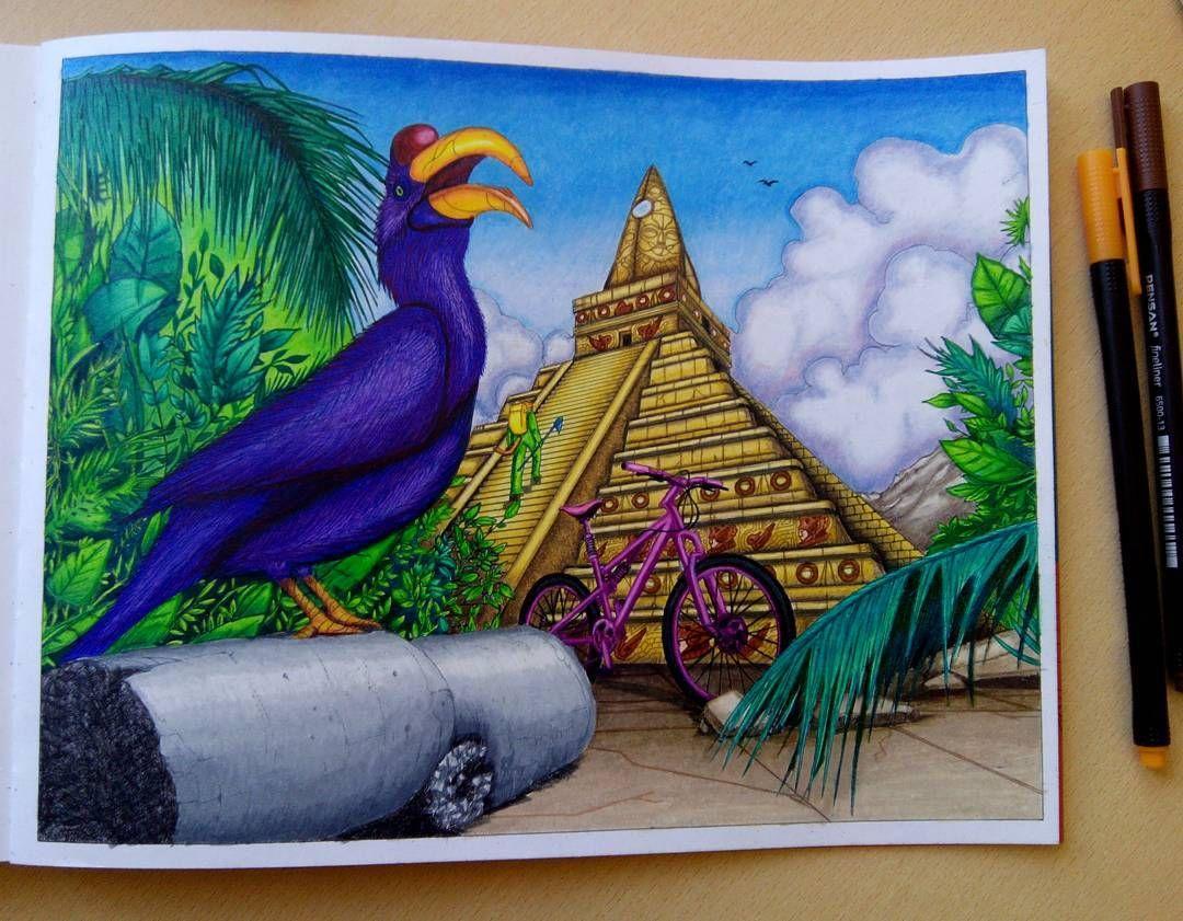 Раскраски | Зачарованный лес | Таинственный сад | Рисунки ...