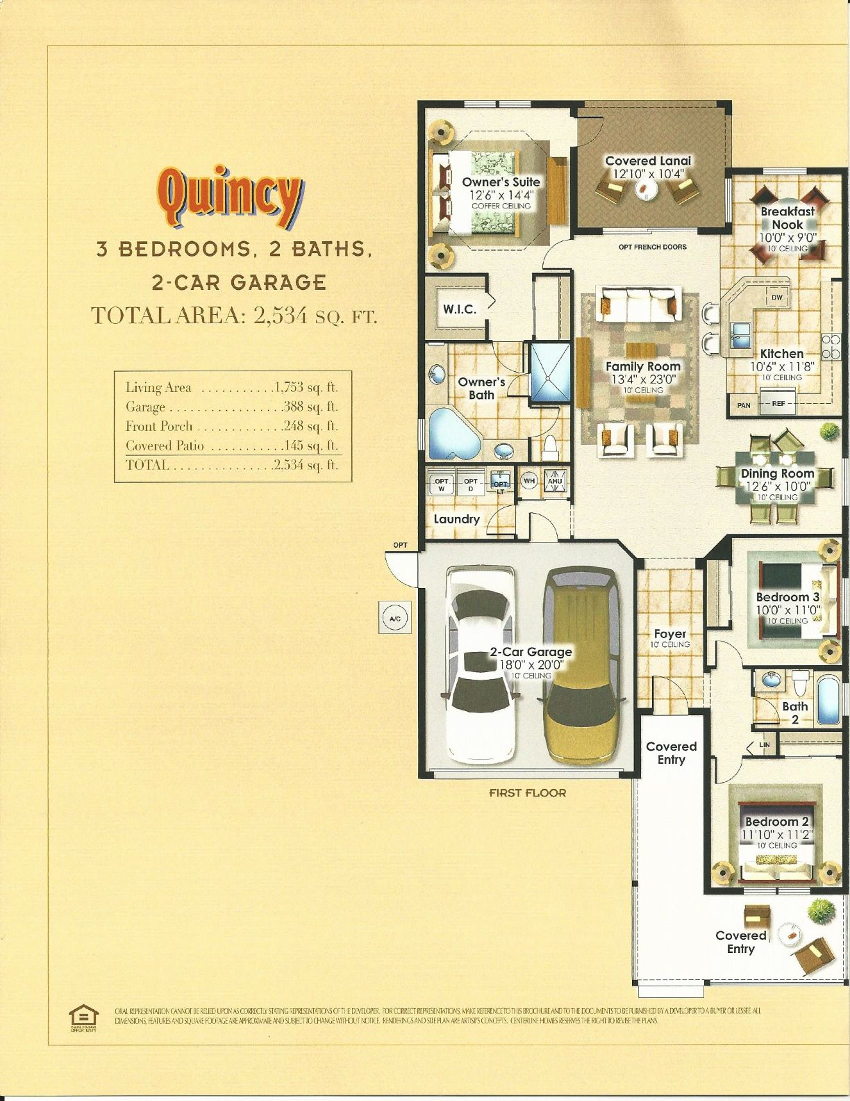 summerlake center line homes tahoe collection qunicy floor plan in