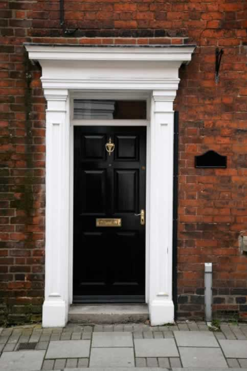 Color Scheme Red Brick Black Door Off White From The