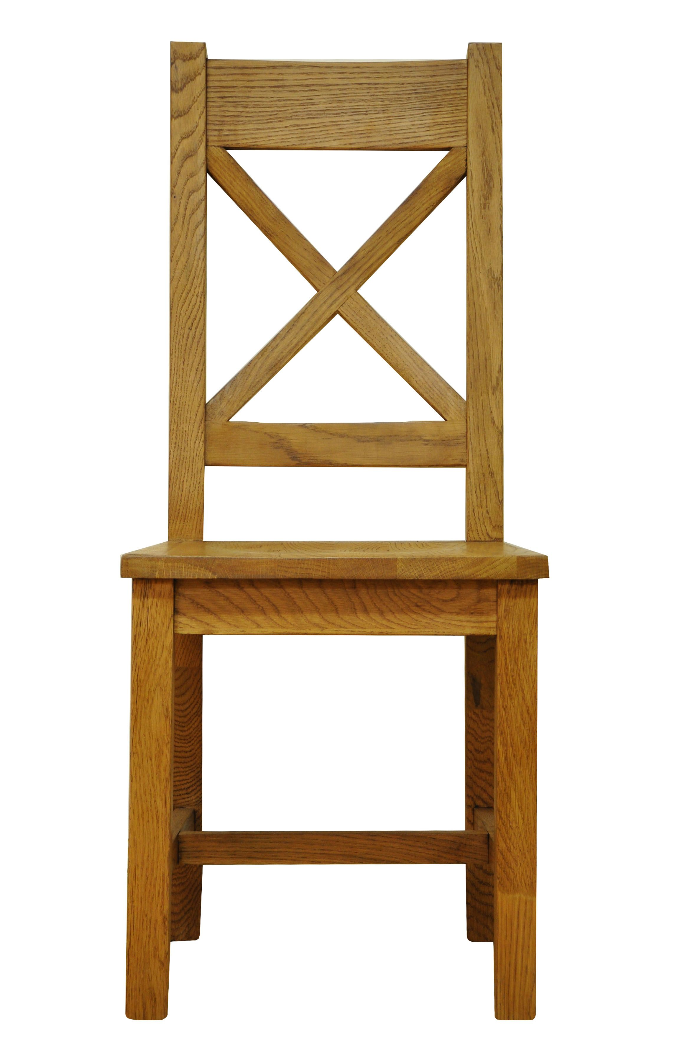Stanton Cross Back Rustic Oak Dining Chair with Oak Seat | Dining ...