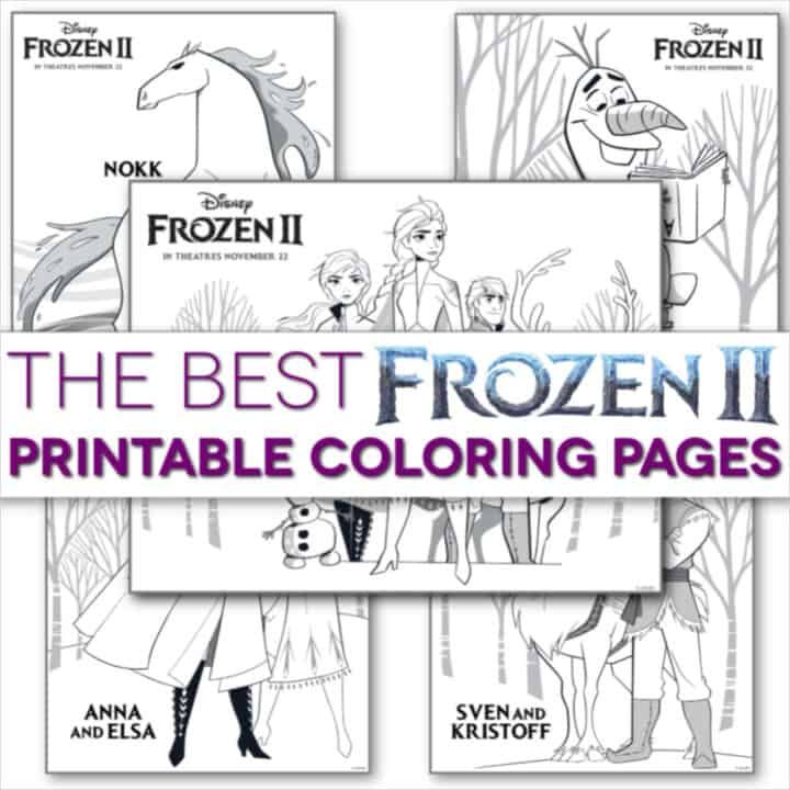 Free Frozen 2 Coloring Pages: Print Them All Now! in 2020 ...