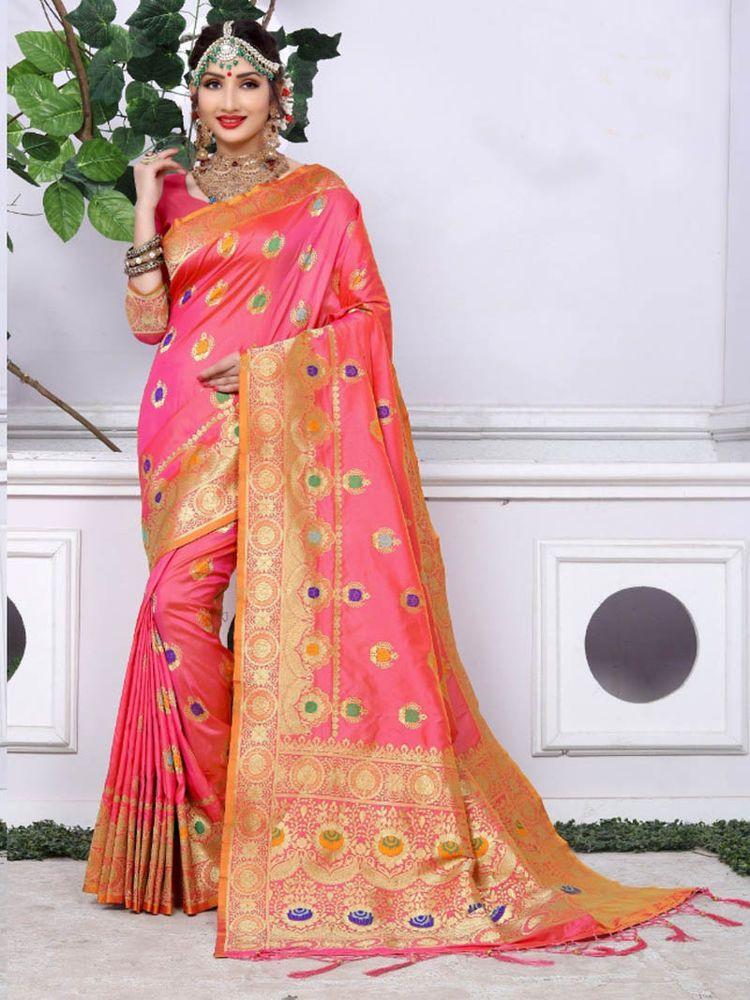 Indian New Collection 2018 Party Wear Designer Banarasi Silk Saree