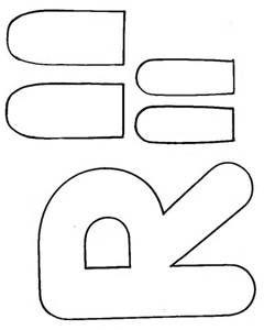 letter r crafts letter r rabbit template