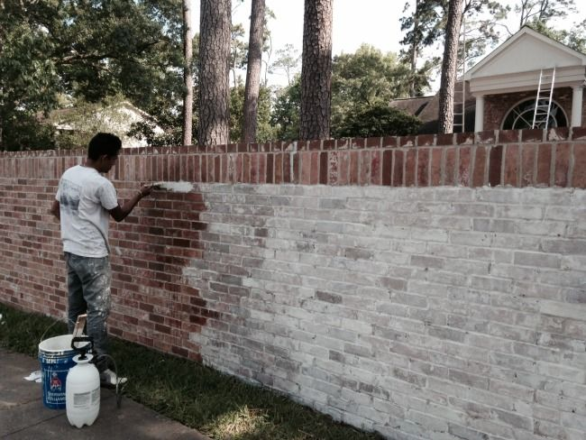 Secrets of segreto segreto secrets blog a limewashed facelift for my exterior brick for How to wash your house exterior
