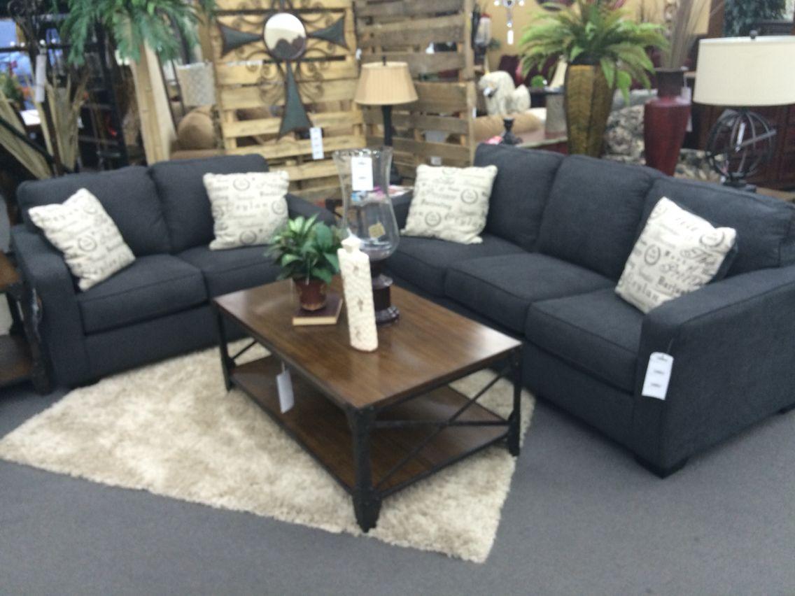 Alenya charcoal sofa love seat