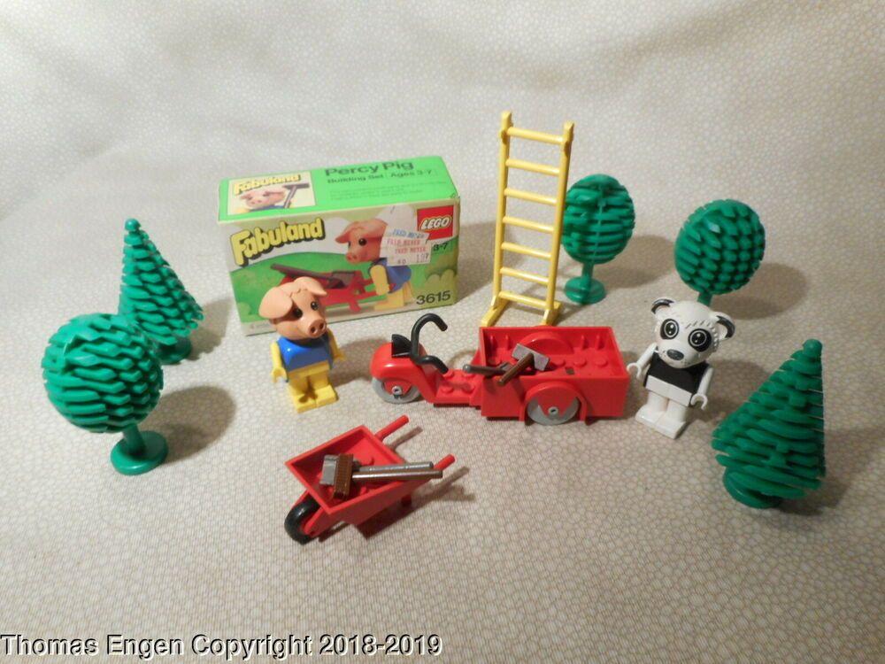 Vintage 1981 Lego Fabuland Sealed Percy Pig 3615 With Loose Fabuland