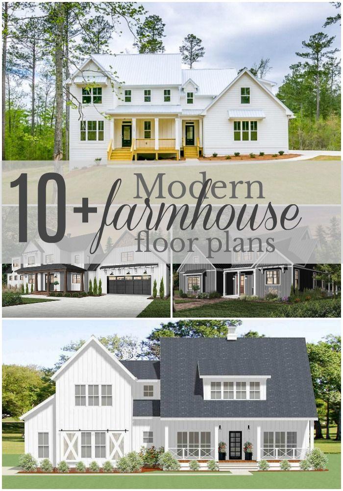 10 Floor Plans Under 2,000 sq ft Modern farmhouse