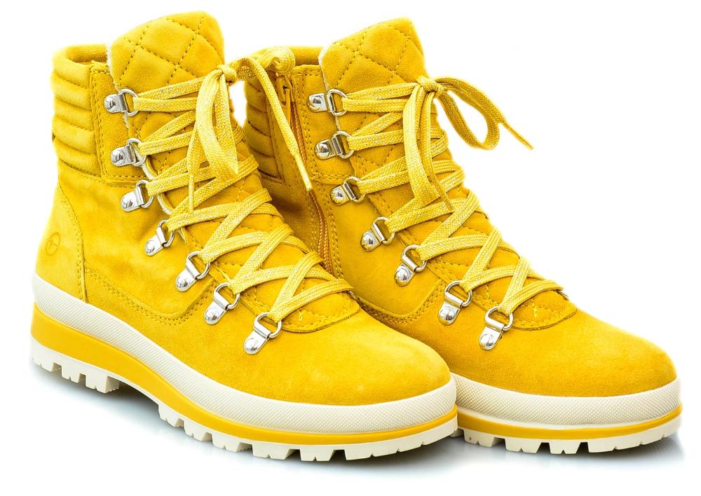 Botki Tamaris 25804 Zolty 38 Skora Buty Sniegowce 8384725274 Oficjalne Archiwum Allegro Boots Hiking Boots High Top Sneakers