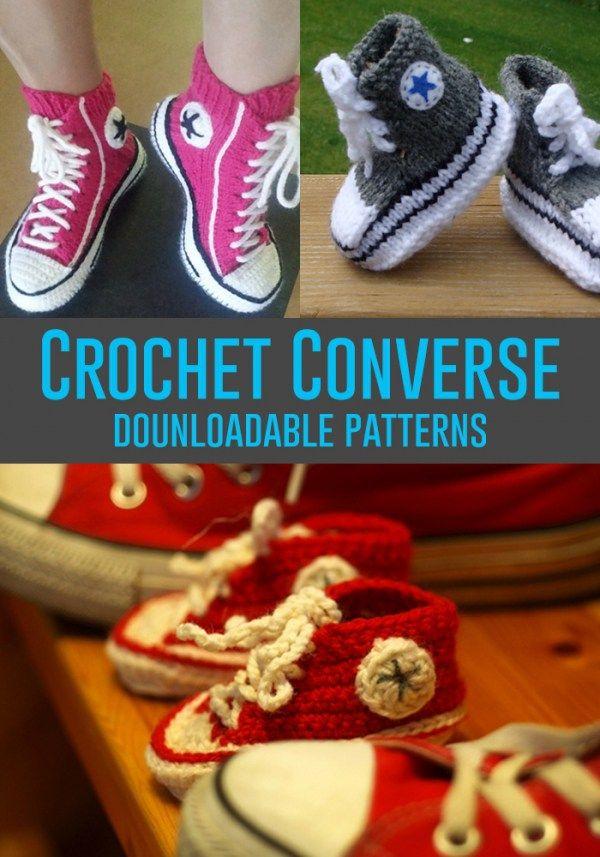 DIY Converse Shoes | Ganchillo, Ganchillo bebe y Tejido