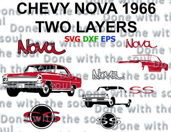 Chevrolet Nova 1966 Chevrolet Vector Chevy Nova Car Svg