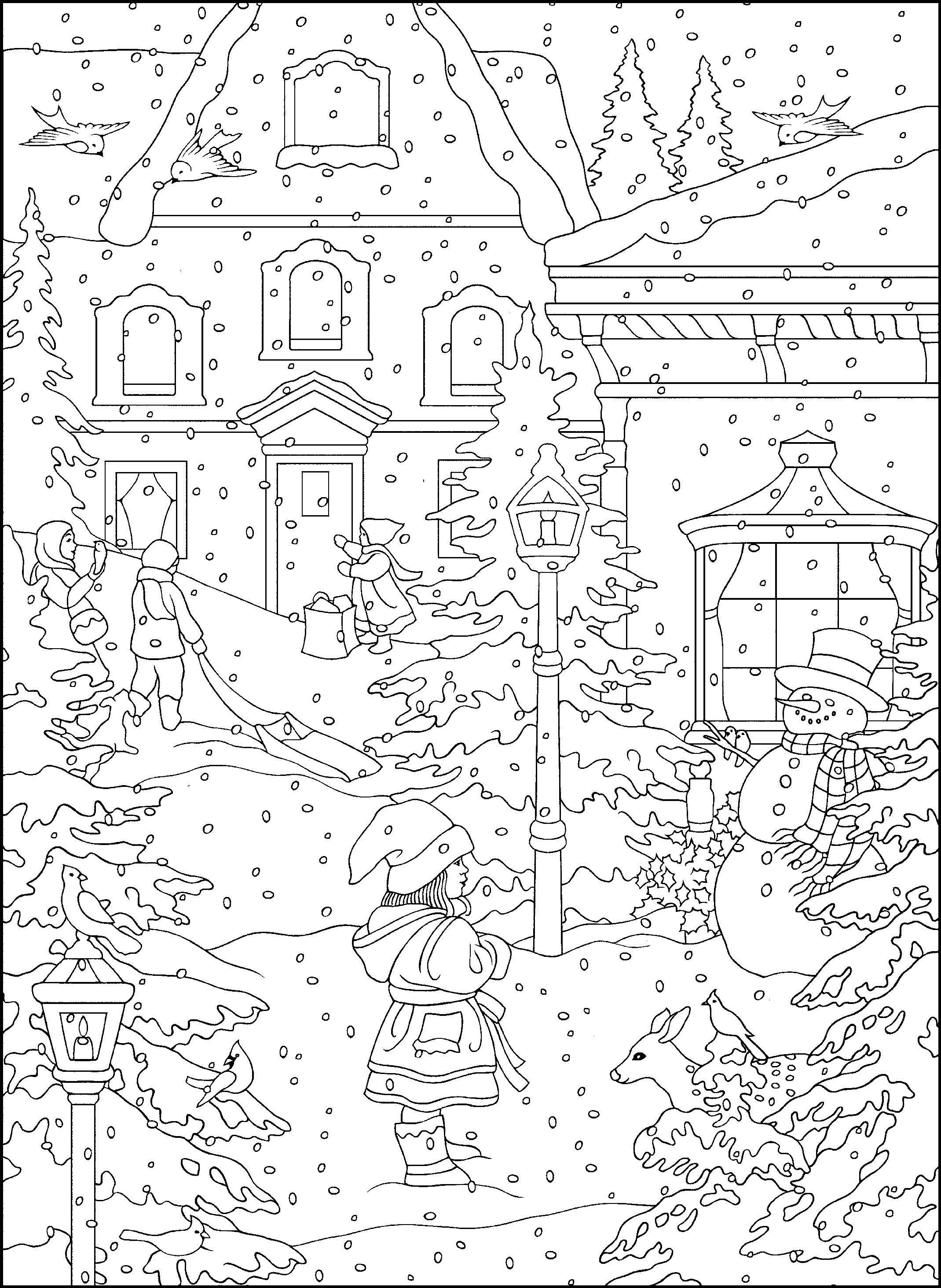 Winter Coloring Pages For Adults Best Coloring Pages For Kids Kleurplaten Kleurplaten Voor Volwassenen Free