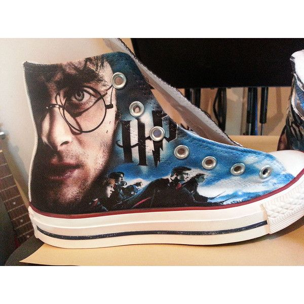 79c0dccb8581 ... top quality harry potter custom converse all stars 2080 mxn liked on  polyvore featuring shoes c7427