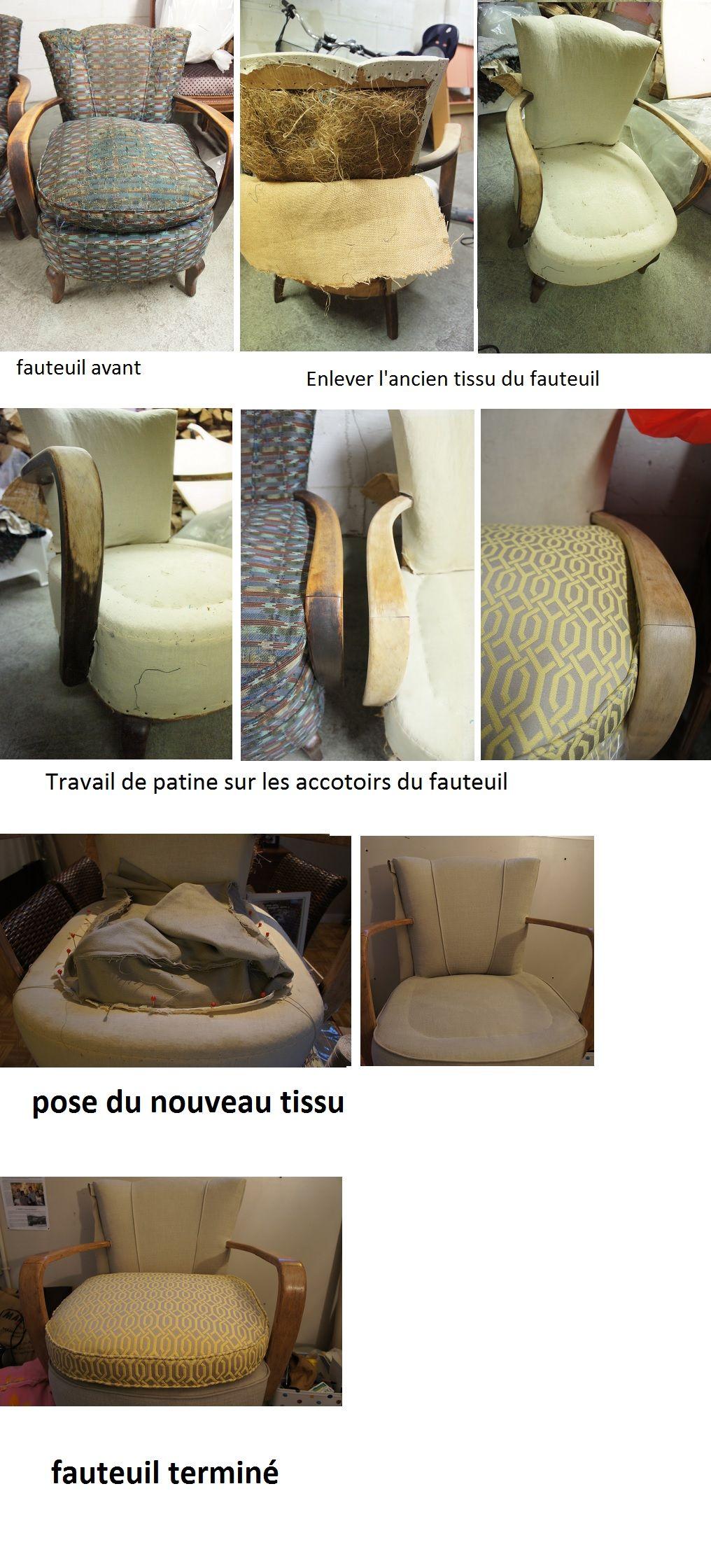 Changer Tissu Sur Fauteuil Art Deco Fauteuil Art Deco Tissu