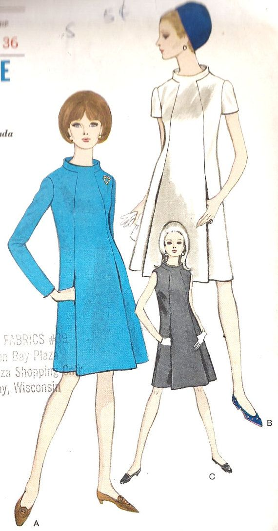 1960s A Line Dress. Classic!
