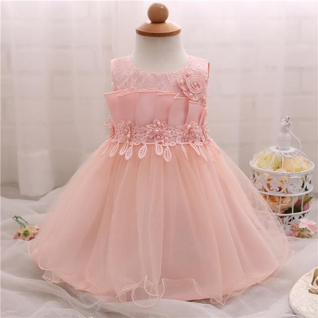 Baby Flower Girl Infant Christening Gowns Dress For Girl Party ...