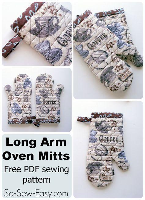 Long Arm Oven Mitts pattern | AUXILIARES DE COCINA | Pinterest ...