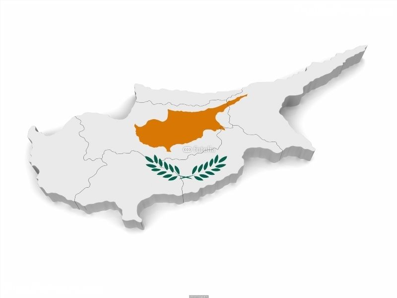 3D Map of Cyprus Poster IDF30167154 3D