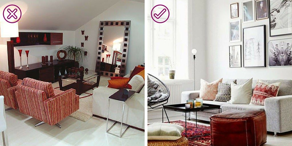 10 ERRORES QUE DEBES EVITAR EN DECORACIÓN  -  http://bit.ly/2a6TJeU #decoración #cómodecorar #aprendeadecorar #erroresdecorativos #soluciones