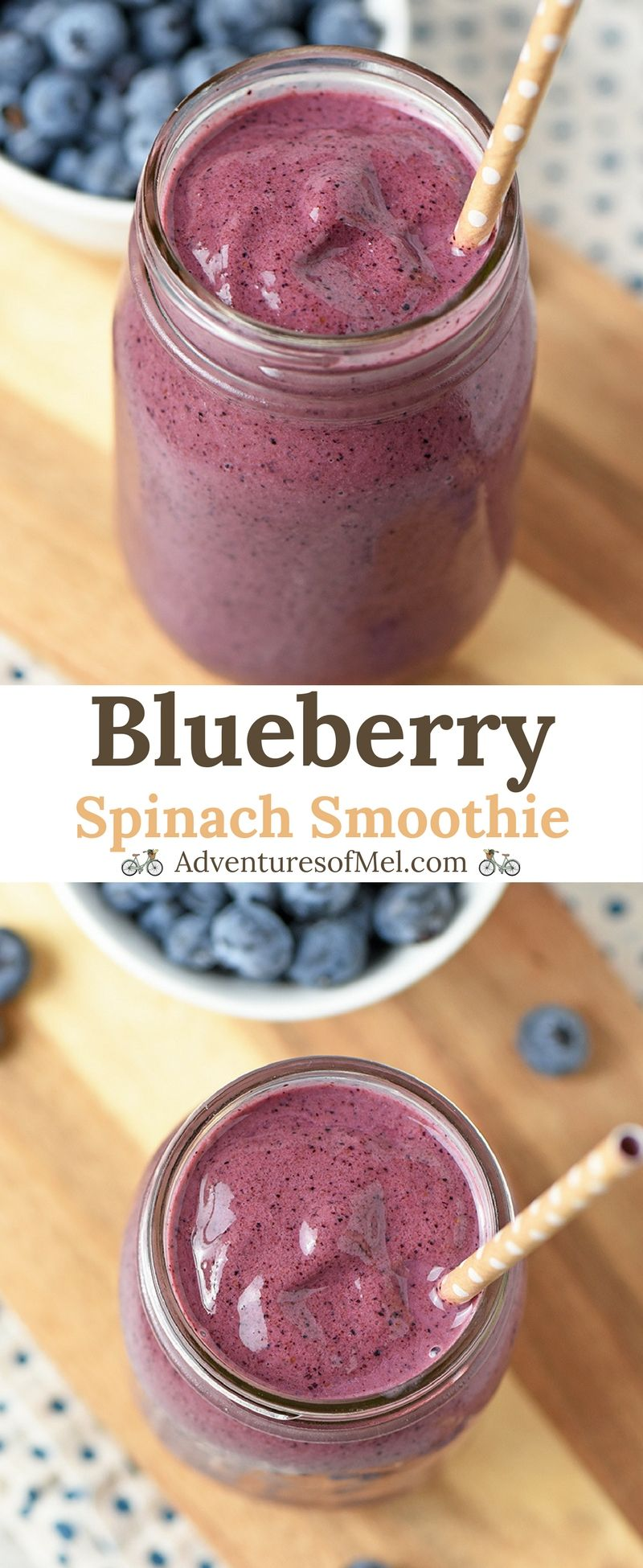 Blueberry Spinach Smoothie recipe that\'s healthy, quick, and an easy to make snack. Made with fresh spinach, plain Greek yogurt, and honey, also a tasty addition to mornings. #blueberry #smoothies #blueberries #spinach #healthyrecipes #frozen #easyrecipe #snack