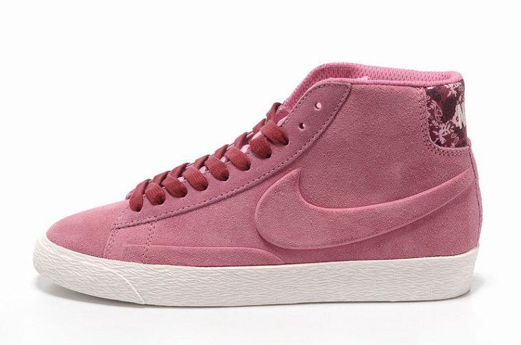 Top1 Nike Blazer High Women Suede VT Pink-Burgundy For UK Sale