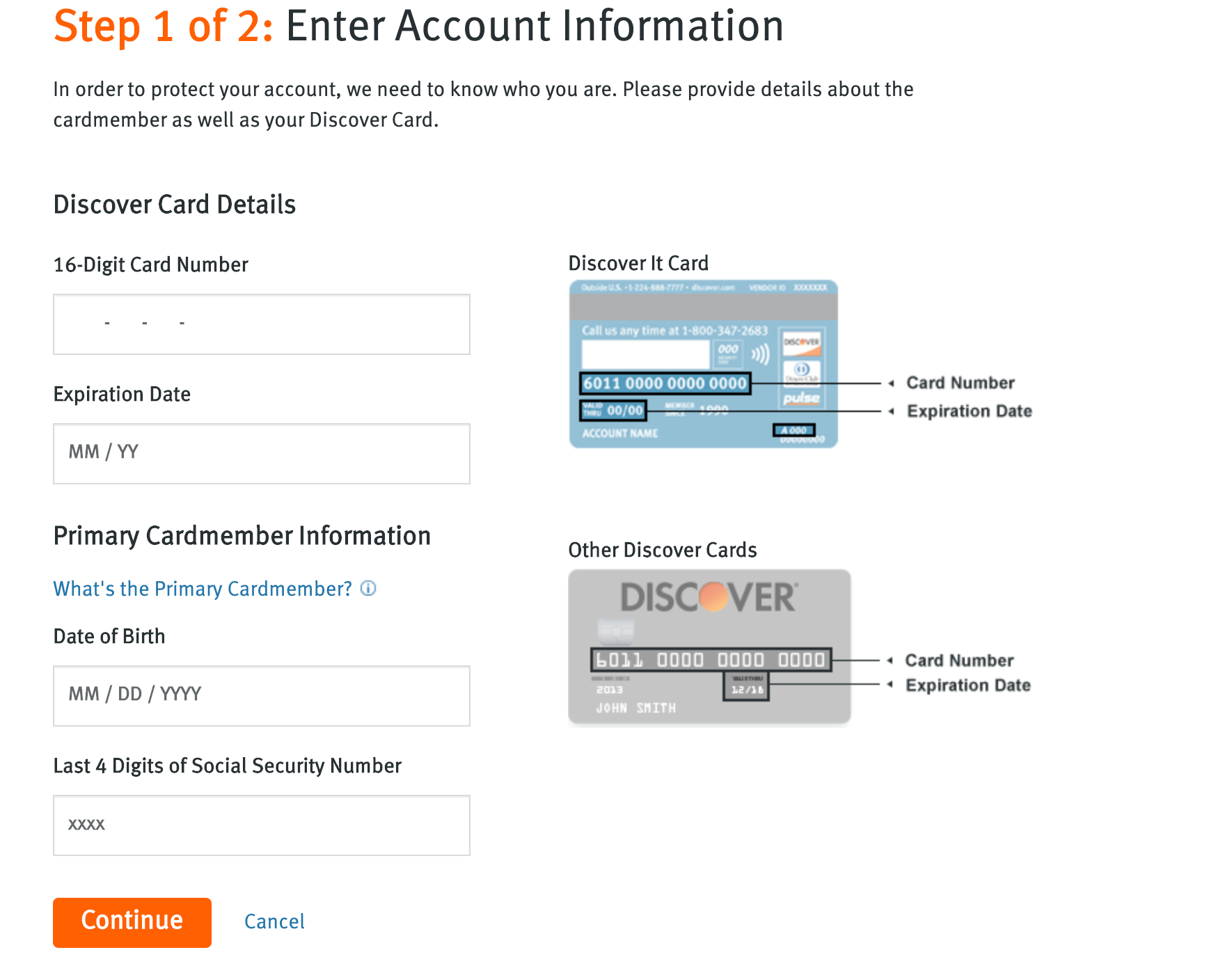 Discover Credit Card Login - If you are facing issues in my