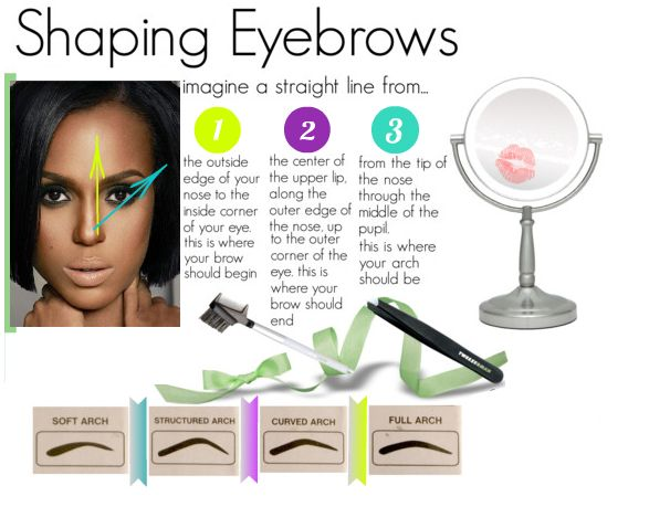 Eyebrow Shapes For Oval Faces Perfect Eyebrow Shape For Round Face