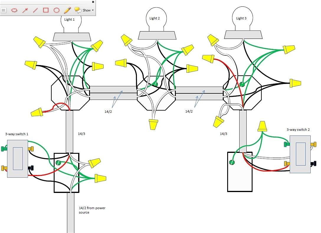 Perfect Wiring Diagram For 3 Way Switch With 2 Lights Great Wiring