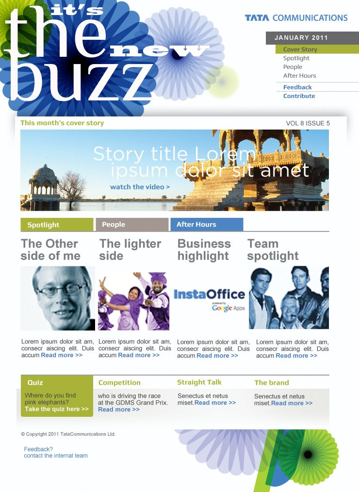 Internal Communications Employee Newsletter Tata Communications - Internal email newsletter templates