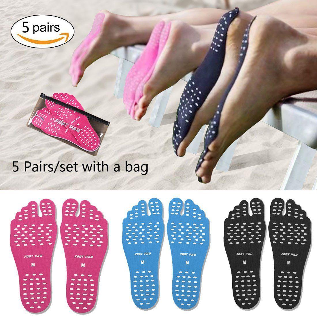Anti-Slip and Waterproof Unisex Beach Foot Pads Barefoot Foot Stickers