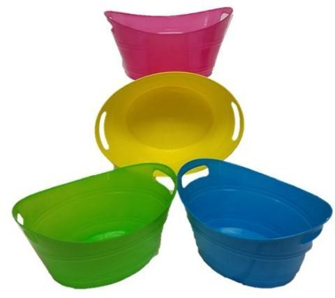 Oval Tub With Handles Case Of 48 Products Handle Tub Plastic