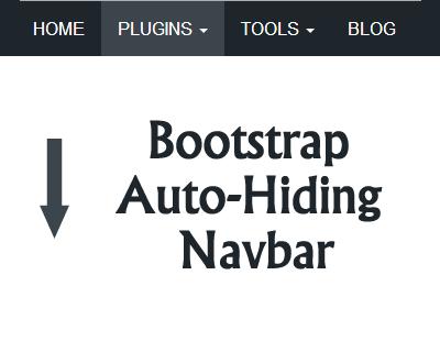 Bootstrap Auto-Hiding Navbar #jQuery #bootstrap #navbar #menu