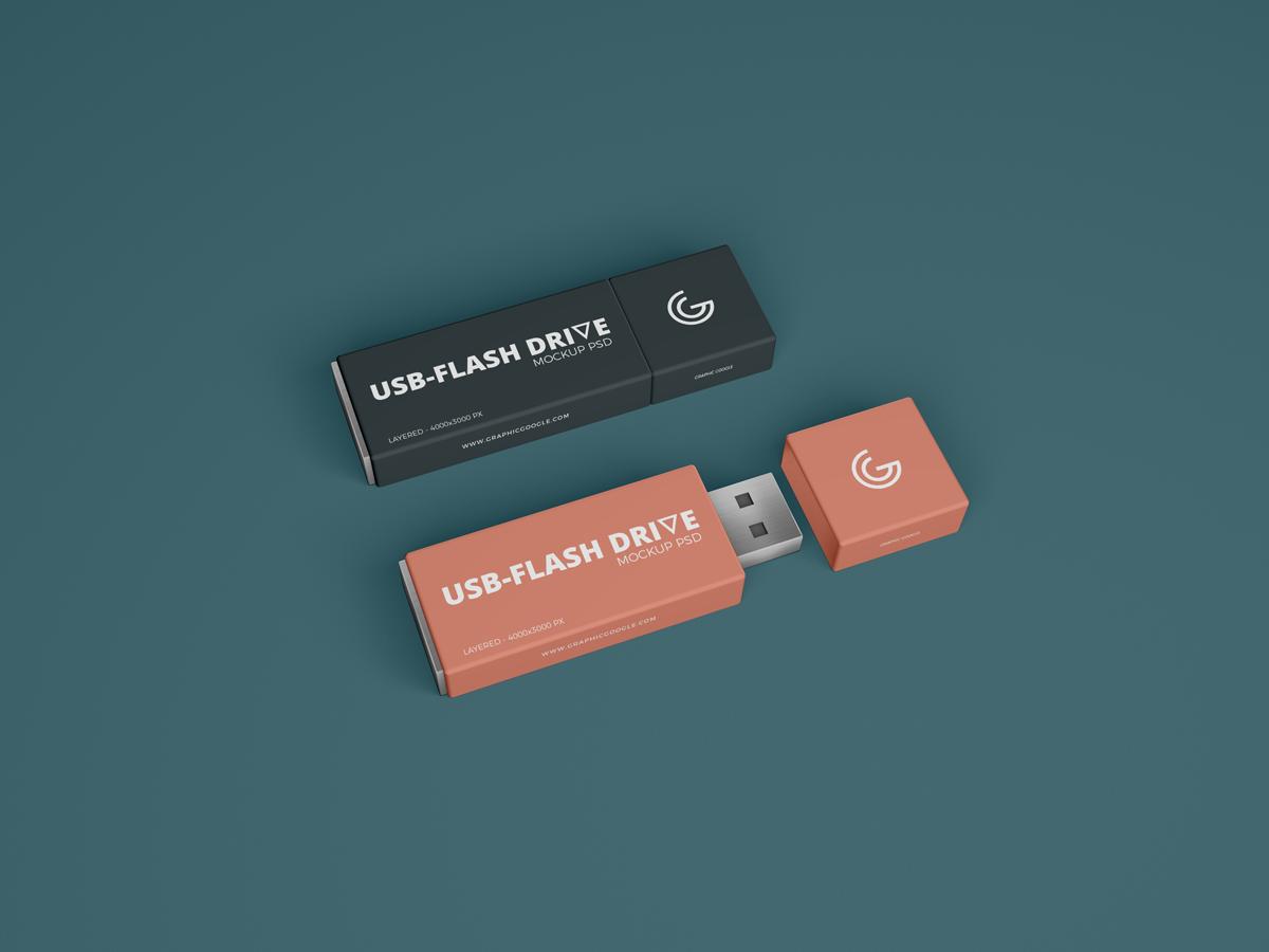 Free Brand Usb Flash Drive Mockup Psd Usb Mockup Psd Flash Drive