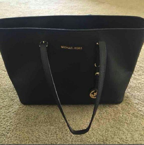 michael kors purse used michael kors large black tote