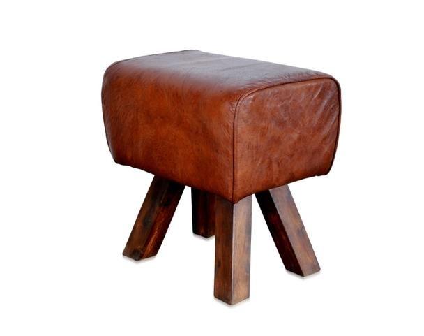leder hocker rostock im used look vintage m bel bei. Black Bedroom Furniture Sets. Home Design Ideas