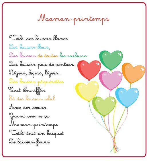 Maman printemps - Poeme de noel pour maman et papa ...