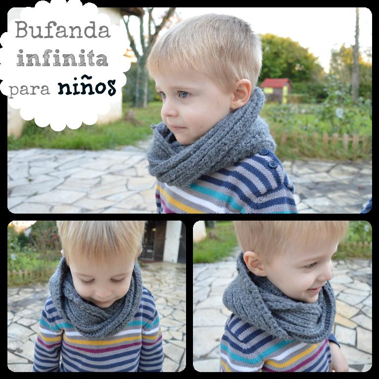 Bufanda infinita para niños | Elenarte | Ideas | Pinterest | Crochet ...