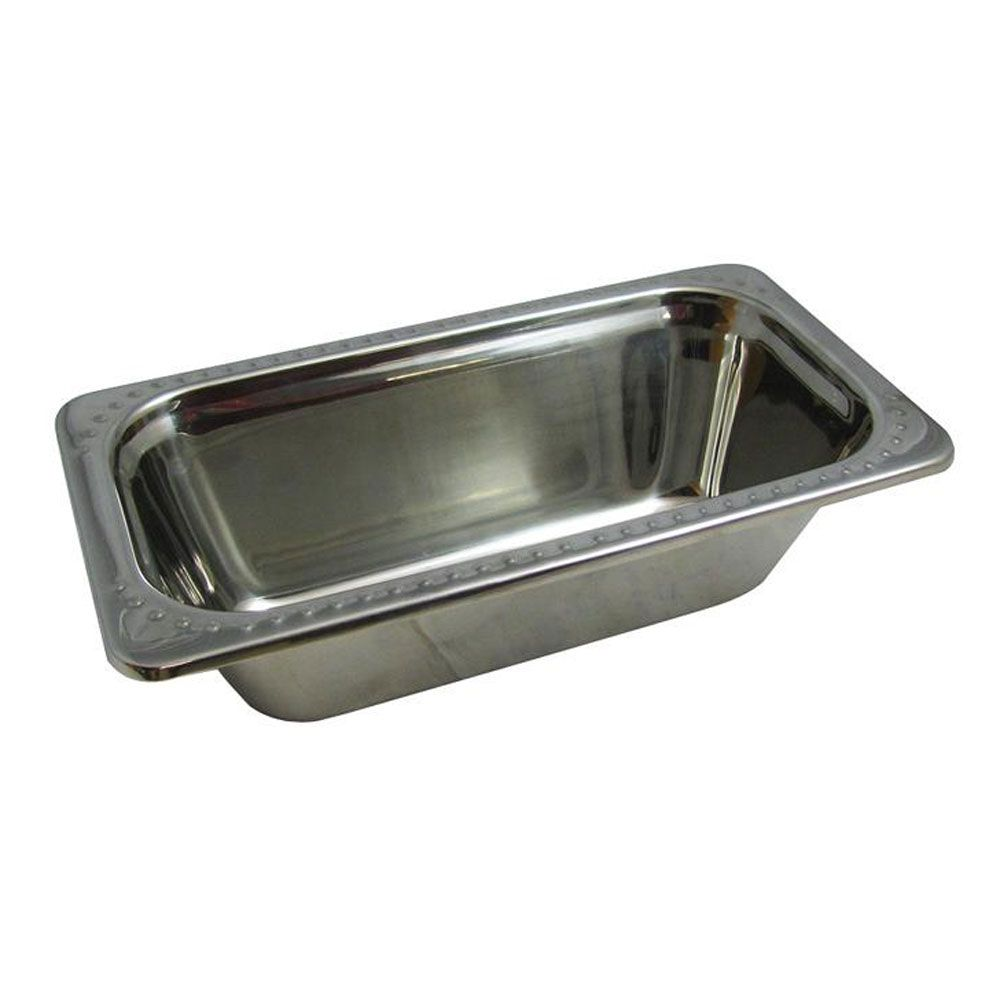 2 Qt 13 1 16 X 6 15 16 X 4 Inch Stainless Steel Pan Bolero Design Case Of 3 Stainless Steel Pans Stainless Steel Black Restaurant