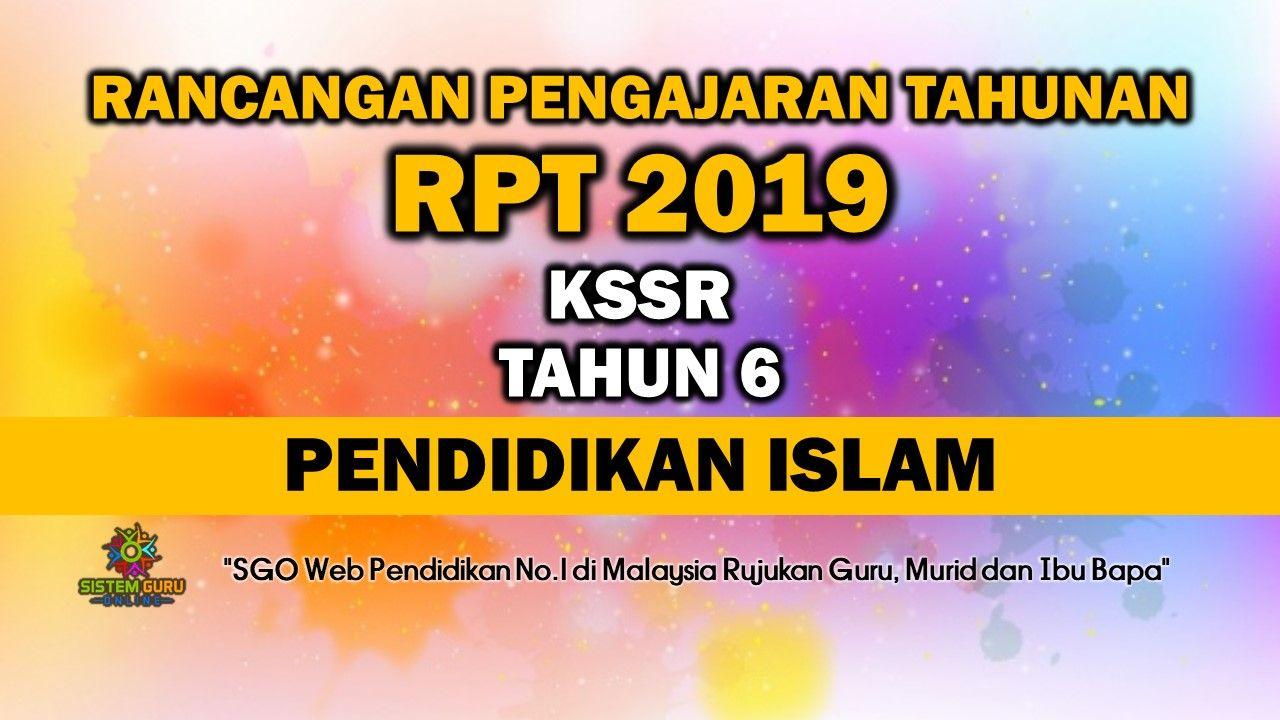 Rpt 2019 Kssr Tahun 6 Pendidikan Islam Pendidikan Islam